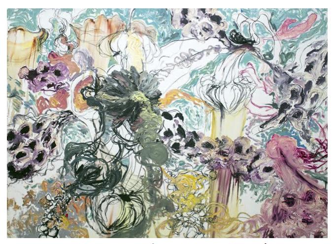 AGUAS TERRITORIALES / Ángel Ricardo Ríos/ Óleo, pastel, carbón sobre tela / 165 x 220 cm / 2014