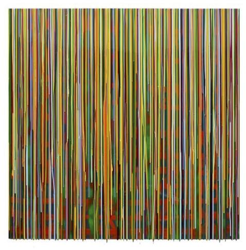 Rc-5, Francisco Valverde, Pigmentos y resinas epóxicas sobre mdf, 122x122 cms, 2015