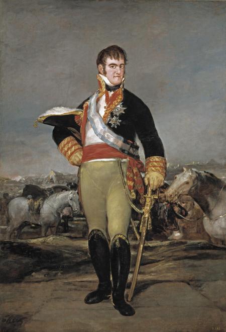 Francisco de Goya y Lucientes (1746–1828) Fernando VII en un campamento, ca. 1815 Óleo sobre tela, 207 x 140 cm Museo Nacional del Prado, Madrid, P00724