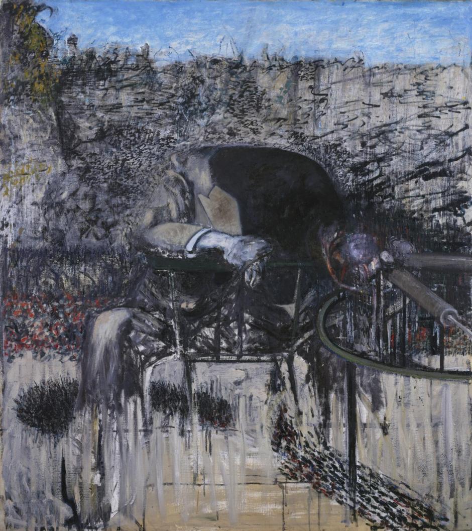 Francis Bacon, Figure in a Landscape ,1945.