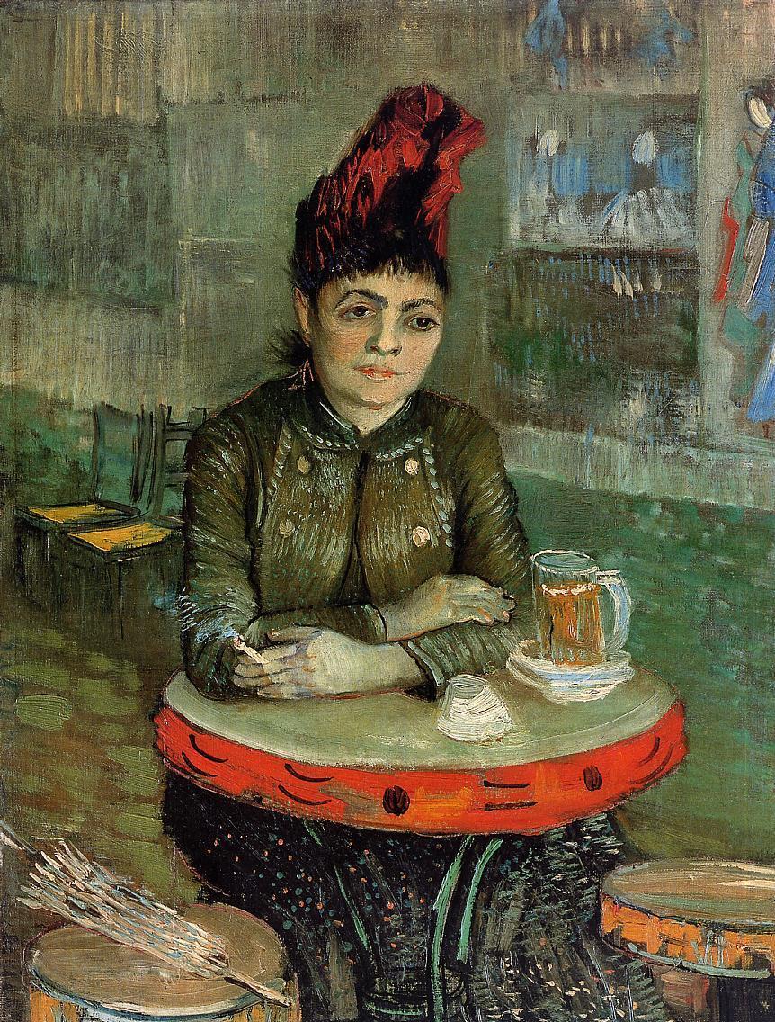 Vincent van GoghAgostina Segatori sentada en el café Tambourin - pandereta© Van Gogh Museum, Amsterdam