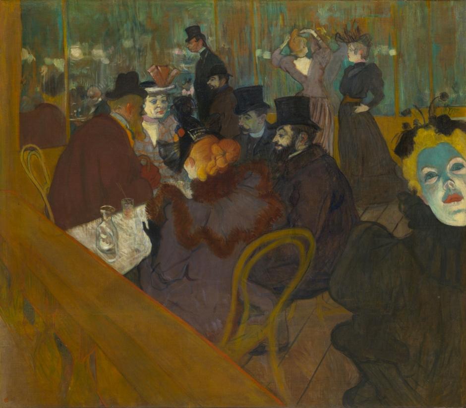 Henri de Toulouse-Lautrec (1864-1901)Au Moulin Rouge1892-1895Huile sur toileH. 123 ; L. 141 cmThe Art Institute of ChicagoHelen Birch Bartlett Memorial Collection, 1928.610 © The Art Institute of Chicago