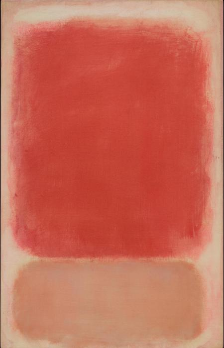 Mark Rothko, Red and Pink on Pink, c. 1953, tempera on paper mounted on board with acrylic, the Museum of Fine Arts, Houston, bequest of Caroline Wiess Law. © 1998 by Kate Rothko Prizel and Christopher Rothko