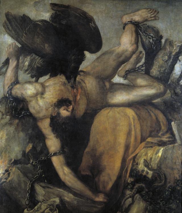 Tiziano / Tityus / Óleo sobre tela / 253 x 217 cm