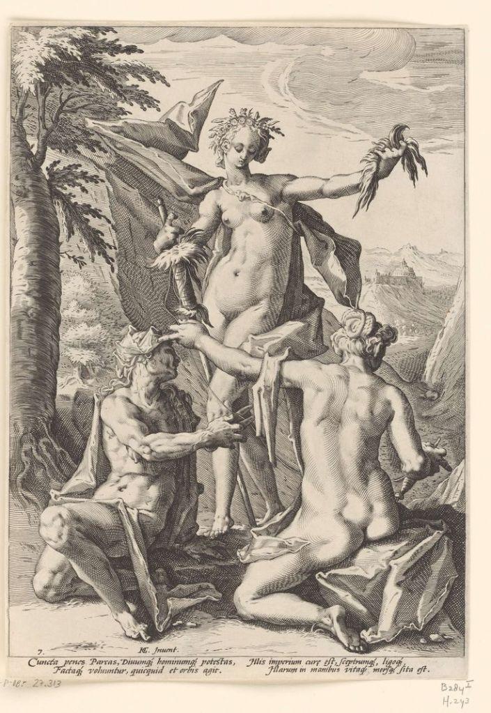 Drie schikgodinnen, Hendrick Goltzius, 1588