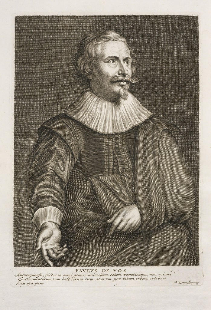 Anton Van Dyck, siglo XVII. Pavlus de Vos. Tintas de impresión grasa sobre papel verjurado.