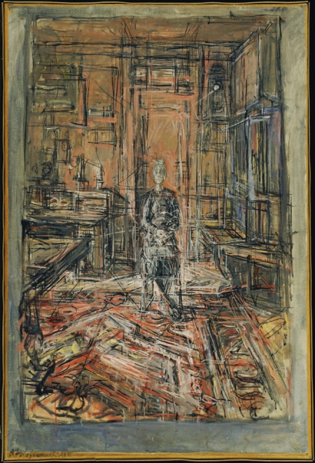 Giacometti, Alberto (1901-1966): The Artist's Mother, 1950. New York, Museum of Modern Art (MoMA) Oil on canvas, 35 3/8 x 24 (89.9 x 61 cm). Acquired through the Lillie P. Bliss Bequest. 15.1953*** Permission for usage must be provided in writing from Scala. May have restrictions - please contact Scala for details. ***