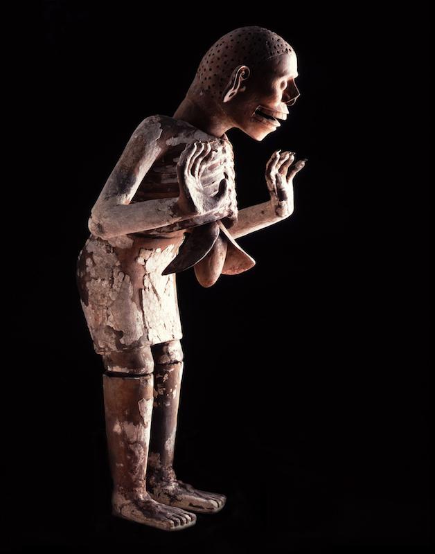 Mictlantecuhtli, dios del inframundo y de los muertos Posclásico tardío (1250-1521 d.C.) Cerámica Colección Museo del Templo Mayor, INAH