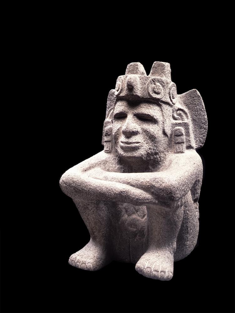 Xiuhtecuhtli, dios del fuego y el calor Posclásico tardío (1250-1521 d.C.) Basalto Colección Museo del Templo Mayor, INAH