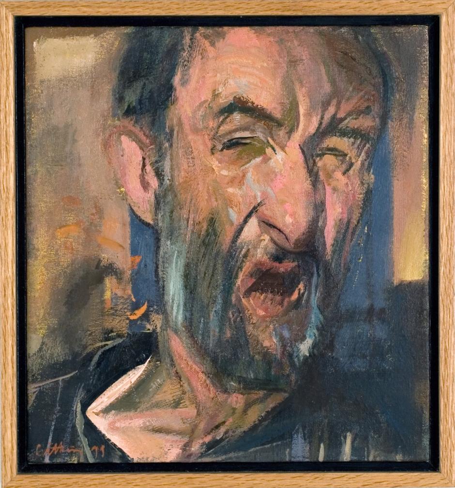 Jerome Witkin / Self Portrait II / 1990 / Oil on Canvas