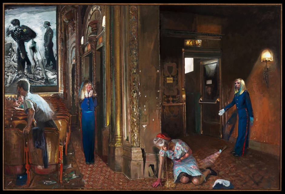Jerome Witkin / New York Movie, 1945 / 2013-2015 / Oil on Canvas Diptych