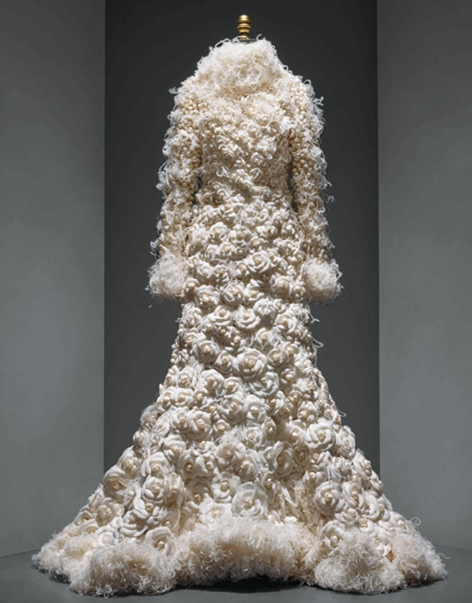 Karl Lagerfeld (French, born Hamburg, 1938) for House of Chanel (French, founded 1913) Wedding ensemble, autumn/winter 2005–6 haute couture Courtesy of CHANEL Patrimoine Collection Photo © Nicholas Alan Cope