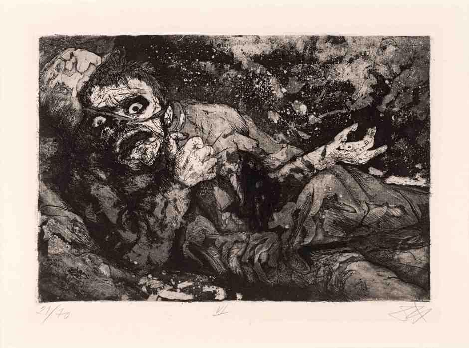 Otto Dix Soldado herido