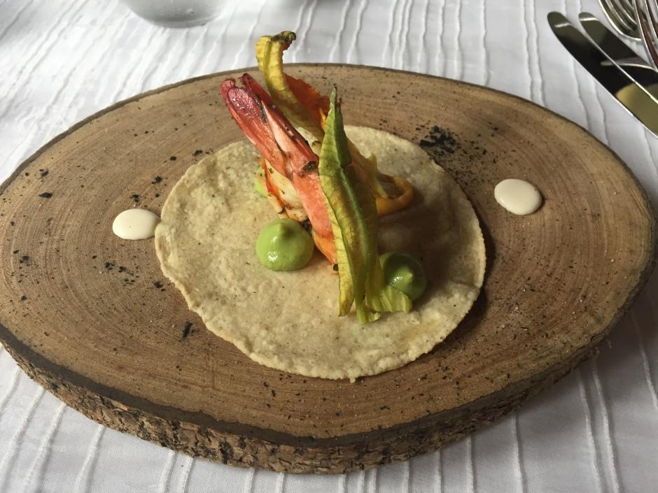Taco de camarón