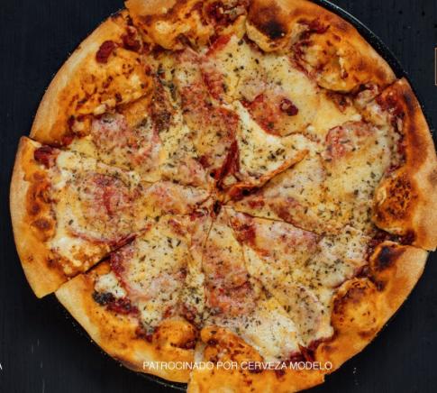 Pizza Cantinpalo. Imagen cortesía Cerveza Modelo.