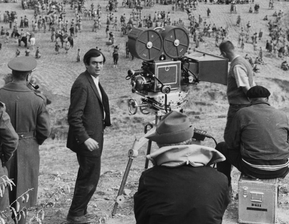 Stanley Kubrick en el set de  Espartaco ( Estados Unidos, 1959 – 60). © Universal Studios Inc.