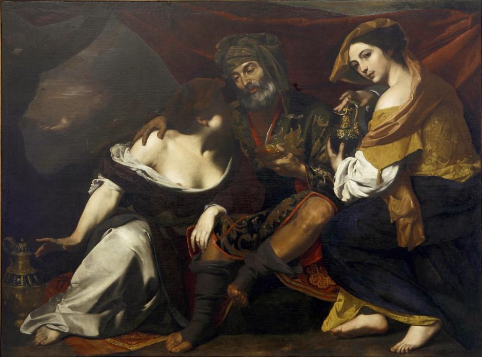 Artemisa Gentileschi. Loth e le figlie. 1635-37 ca Óleo sobre tela. Toledo, Museo de Arte, Fundación Clarence Brown
