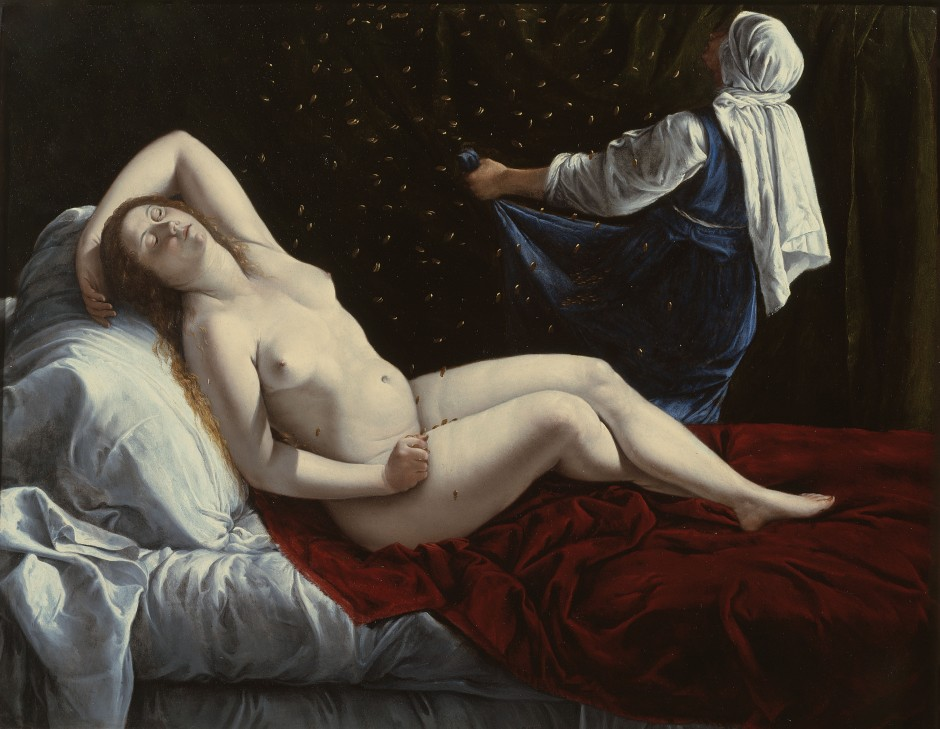 Artemisia Gentileschi. Dane. 1612 Ca. Óleo sobre cobre Saint Louis Art Museum