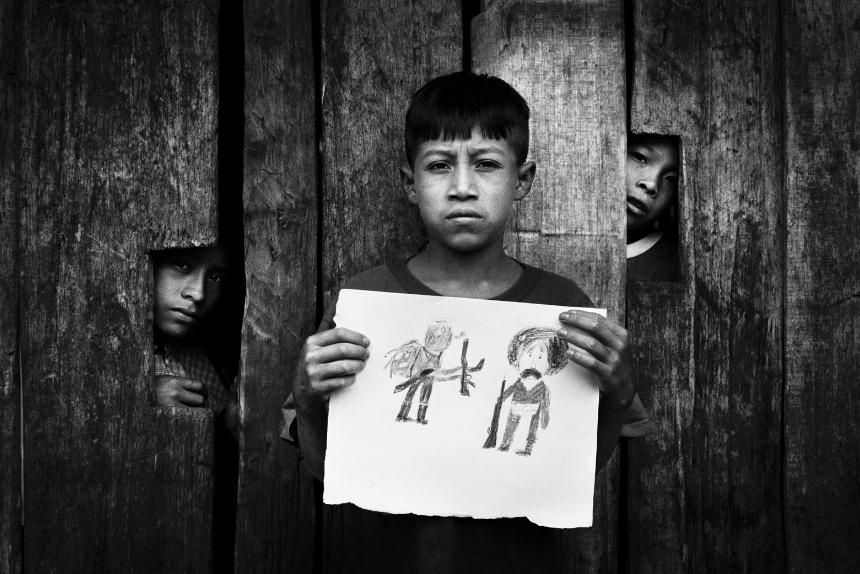 Mat Jacob. Ismael hizo un dibujo representando a Zapata y al Subcomandante Marcos , 29 de julio de 2005.