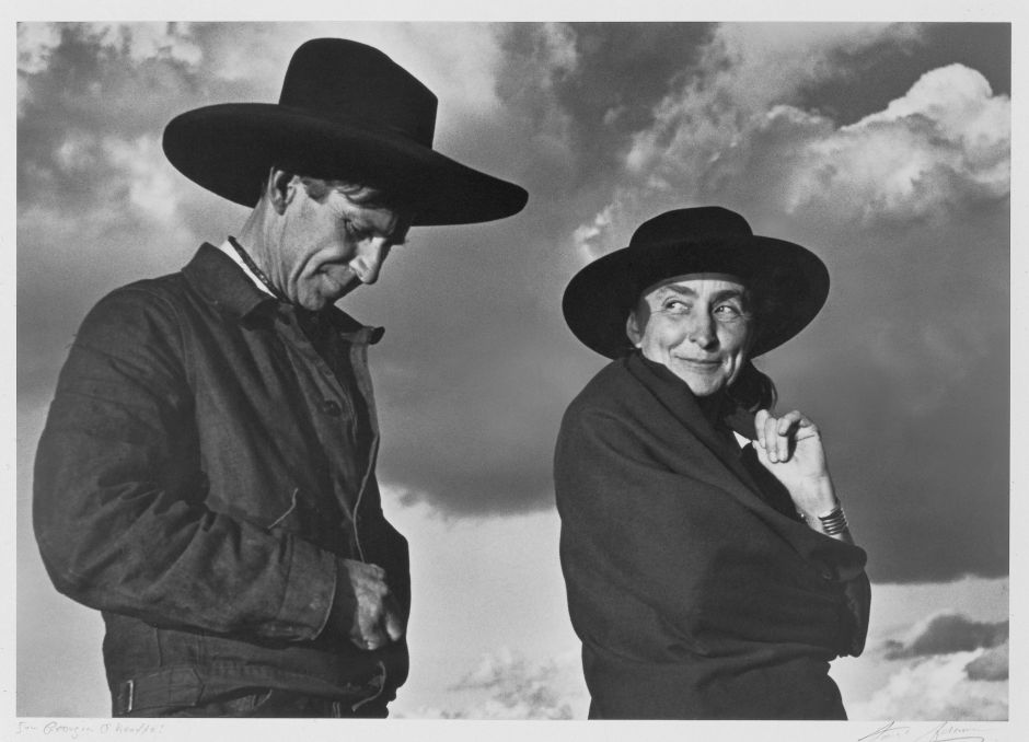 Ansel Adams (American, 1902-1984). Georgia O'Keeffe and Orville Cox, 1937. Gelatin silver print, 7¾ x 11 in. (19.7 x 27.9 cm). Georgia O'Keeffe Museum, Santa Fe, N.M.; Gift of The Georgia O´Keeffe Foundation, 2006.06.1480. © 2016 The Ansel Adams Publishing Rights Trust