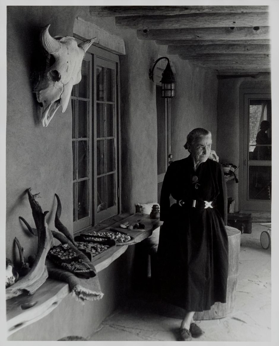 Todd Webb (American, 1905-2000). Georgia O´Keeffe on Ghost Ranch Portal, New Mexico, circa 1960s. Gelatin silver print, 10 x 8 in. (25.4 x 20.3 cm). Georgia O´Keeffe Museum, Santa Fe, N.M.; Gift of The Georgia O´Keeffe Foundation, 2006.06.1046. © Estate of Todd Webb, Portland, ME