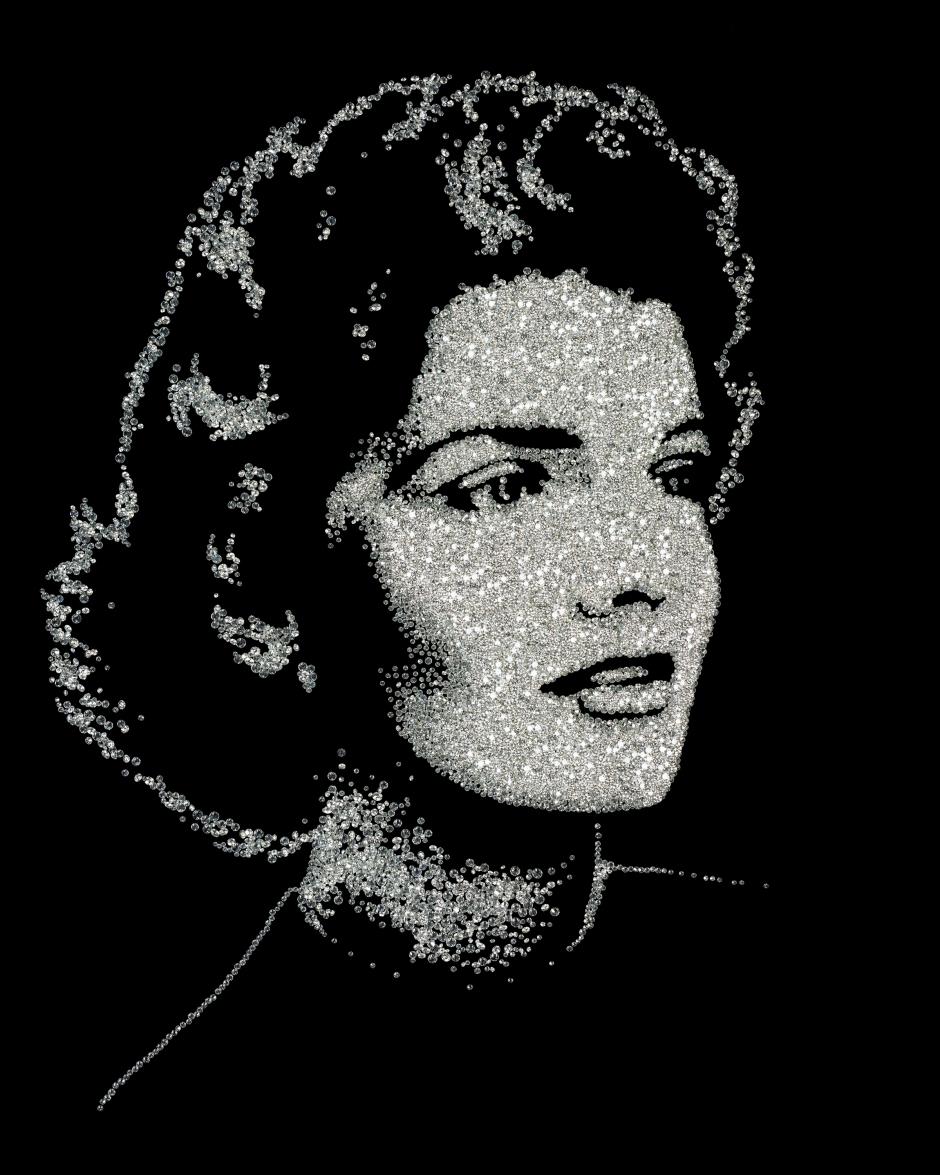 Jackie, de Pictures of Diamonds, 2005 Impresión cromogénica digital 91.4 x 76.2 cm © Vik Muniz
